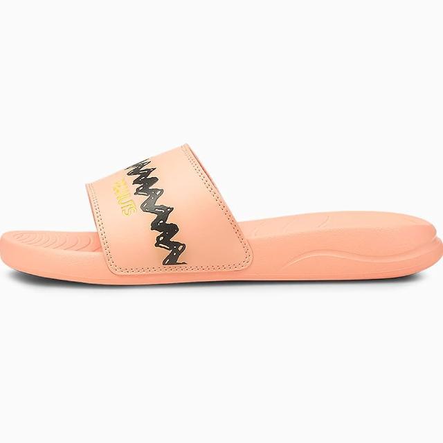 【PUMA】PEANUTS Popcat 20 Jr 女款史奴比粉色休閒涼拖鞋NO.37582502