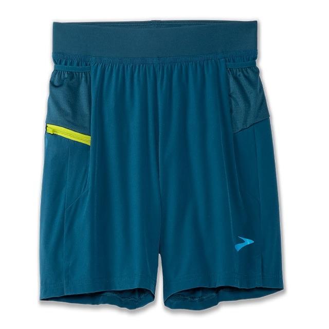 【BROOKS】男 Sherpa 5吋二合一短褲_高山綠/苔蘚綠(211331402)