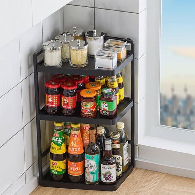 【HappyLife】多功能廚房轉角架 32長3層 Y10160(桌上整理架 檯面整理架 餐具架 調味料 廚房收納架)