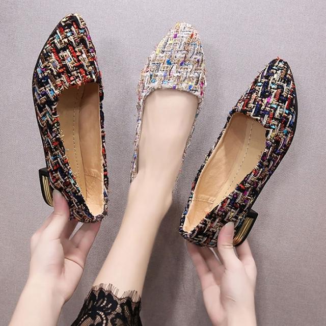 【K.W.】獨賣真復古尖頭跟鞋-通勤鞋/跟鞋(共2色)