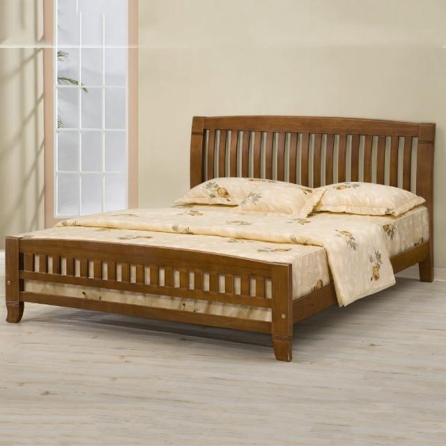 【MUNA 家居】巴比倫黃檀實木6尺雙人加大床架實木床板(床台 床架 雙人床 實木)