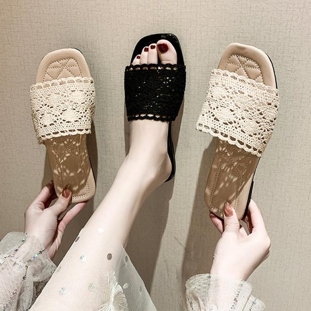 【K.W.】獨賣甜心單品涼托鞋-涼鞋/涼跟鞋(共2色)