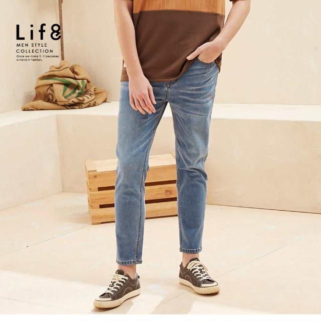 【Life8】Casual 彈力舒適 基本牛仔長褲(02603)