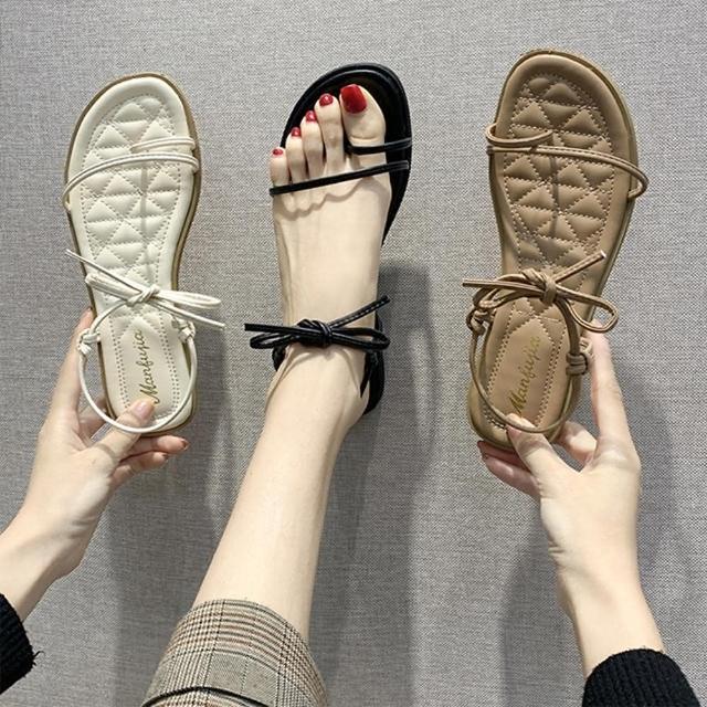 【K.W.】獨賣城市綁帶女孩風涼鞋-涼鞋/涼跟鞋(共3色)