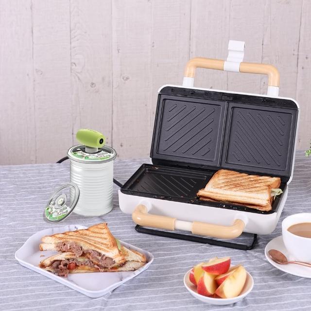 【Roommi】Ksprout愛藏鮮奶粉蓋真空保鮮組+煎烤熱壓三明治機