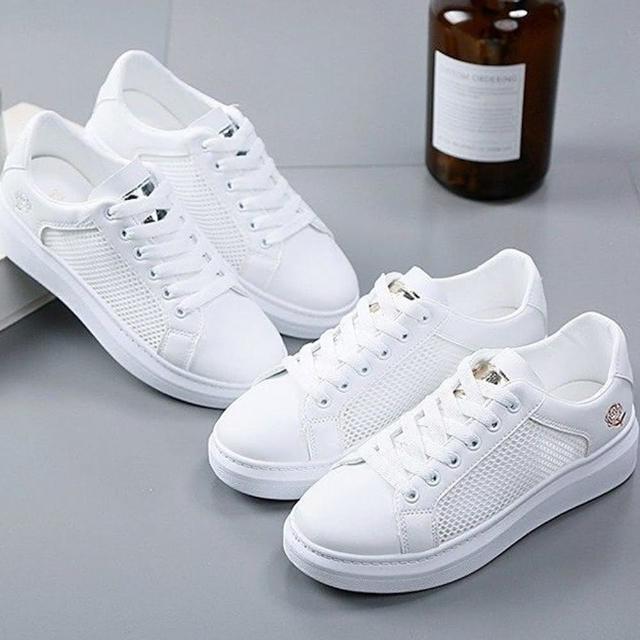 【K.W.】獨賣復古花朵透休閒鞋-輕量/運動鞋/休閒鞋(共2色)