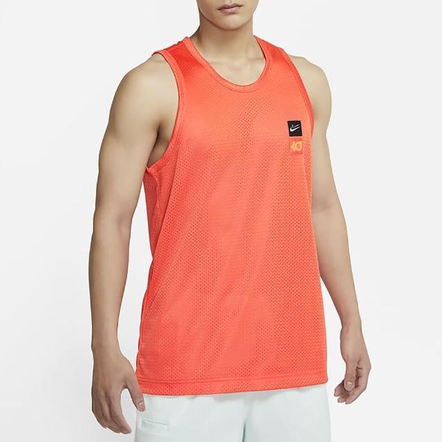 【NIKE 耐吉】背心 男款 運動背心 籃球 AS KD M NK MESH JERSEY 橘 CV2408-842