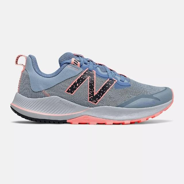 【NEW BALANCE】慢跑鞋 女鞋 運動鞋 越野 緩震 訓練 灰藍 WTNTRCG4