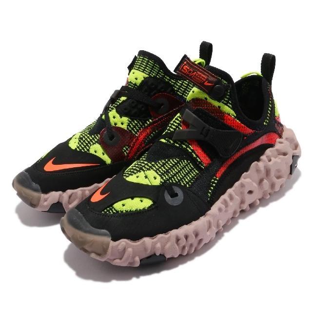 【NIKE 耐吉】休閒鞋 Overreact Flyknit 男鞋 海外限定 ISPA 襪套 都市機能 穿搭 黑 黃(CD9664-001)
