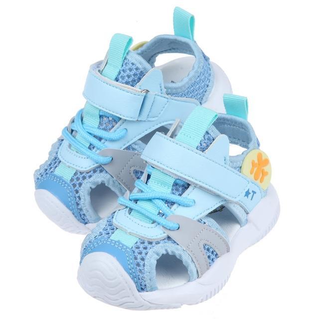 【布布童鞋】淡藍色寶寶透氣運動護趾涼鞋(L1B66BB)