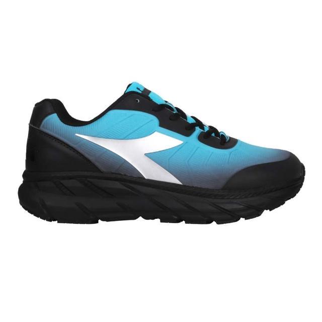 【DIADORA】男專業避震慢跑鞋-超寬楦-路跑 運動 反光 黑藍銀(DA71173)