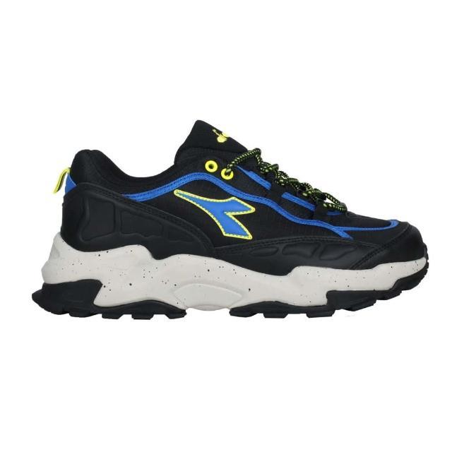 【DIADORA】男戶外野趣越野鞋-超寬楦-防水 越野 慢跑 運動 避震 黑藍黃(DA71178)
