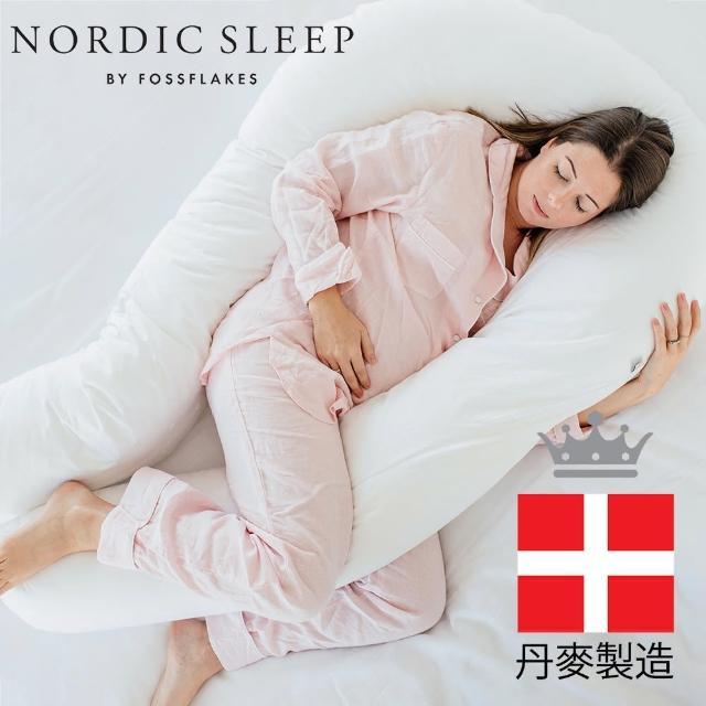 【Fossflakes】孕婦U型多功能抱枕(托腹枕/月亮枕/哺乳枕/纖維枕/防敏枕頭)