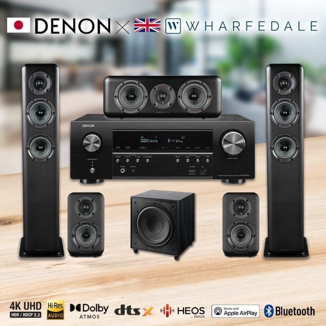 【DENON 天龍】7.2聲道家庭劇院組(AVR-S750H+Wharfedale Diamond SW-150+D330+D310+D300C)