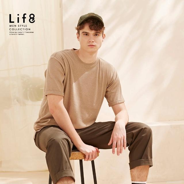 【Life8】Casual 花紗織紋 短袖上衣(10517)