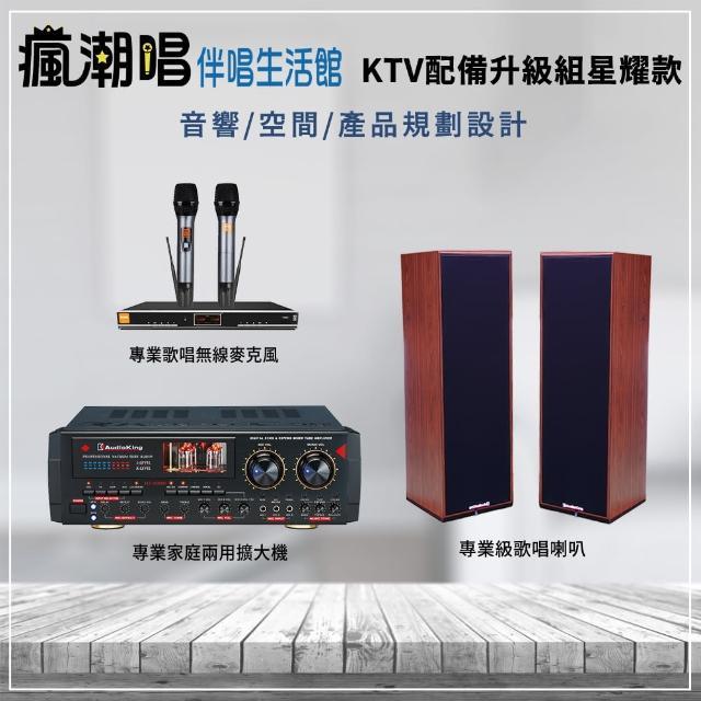 【瘋潮唱】AI智慧無線麥克風XFNSD專業擴大機(KTV設備升級組星耀款)