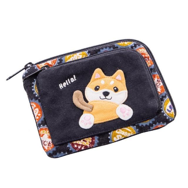 【KIRO 貓】柴犬寶寶 雙層拉鍊 小物收納 零錢包(820203)