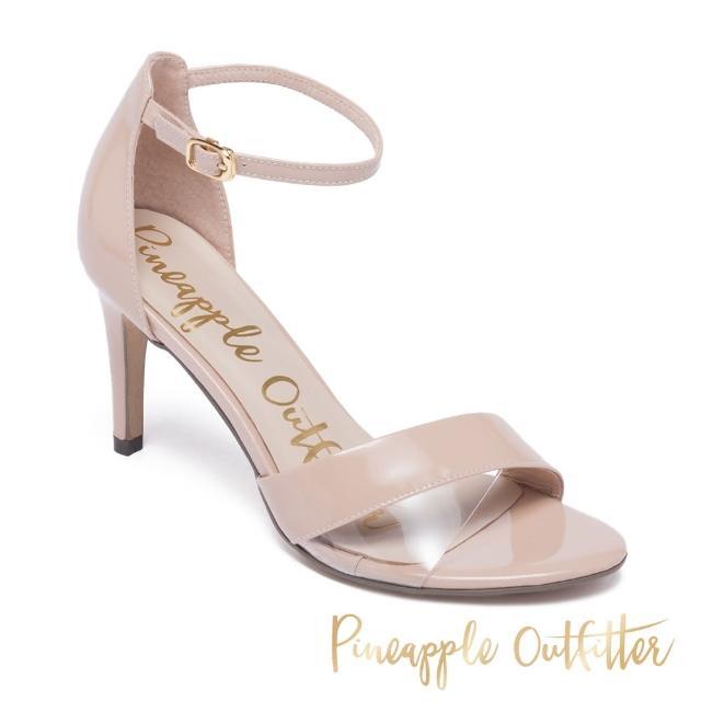【Pineapple Outfitter】ILYSSA 真皮一字繫帶高跟涼鞋(鏡粉)