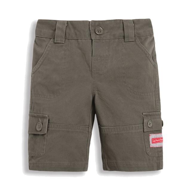 【JoJo Maman BeBe】超優質嬰幼兒/兒童100% 純棉多口袋短褲_岩石灰(JJ-B5351-O)