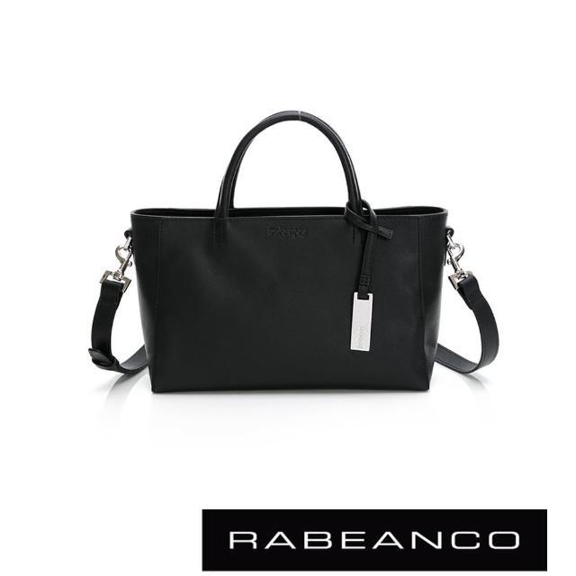 【RABEANCO】迷時尚系列優雅兩用小手提包-小(黑色)