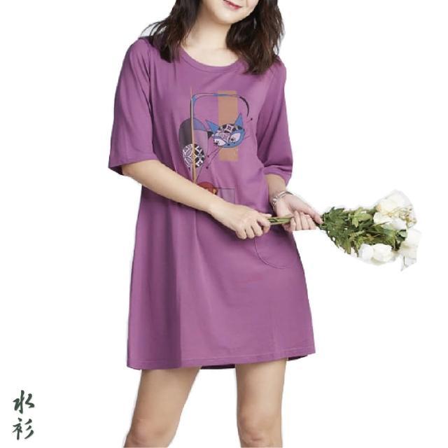 【水衫】優閒趣味圖騰棉質上衣五件組(J03-12)