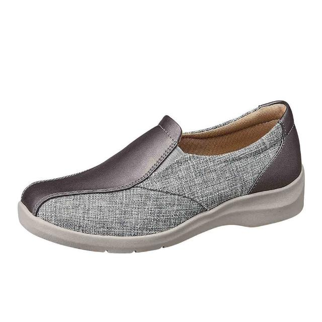 【MOONSTAR 月星】柔軟宣言系列-4E寬楦溫柔包覆休閒鞋(灰色)