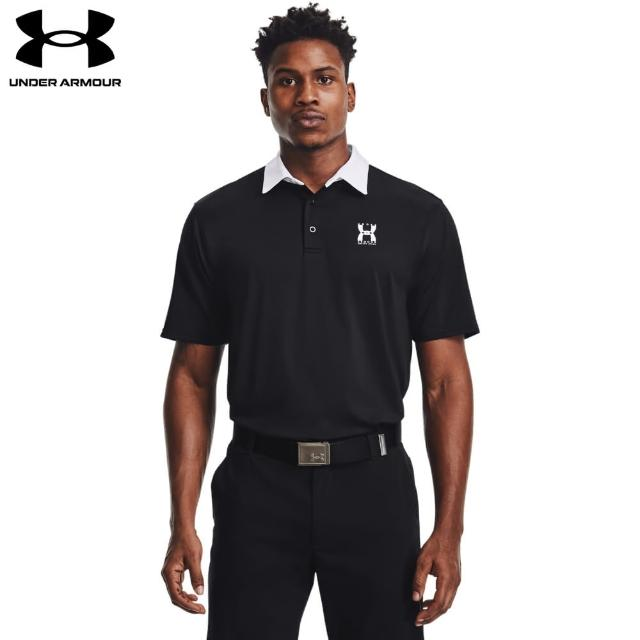 【UNDER ARMOUR】UA 男 25th短POLO_1363030-001(黑)