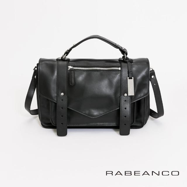 【RABEANCO】Modern現代美學系列雙飾帶包-小(黑色)