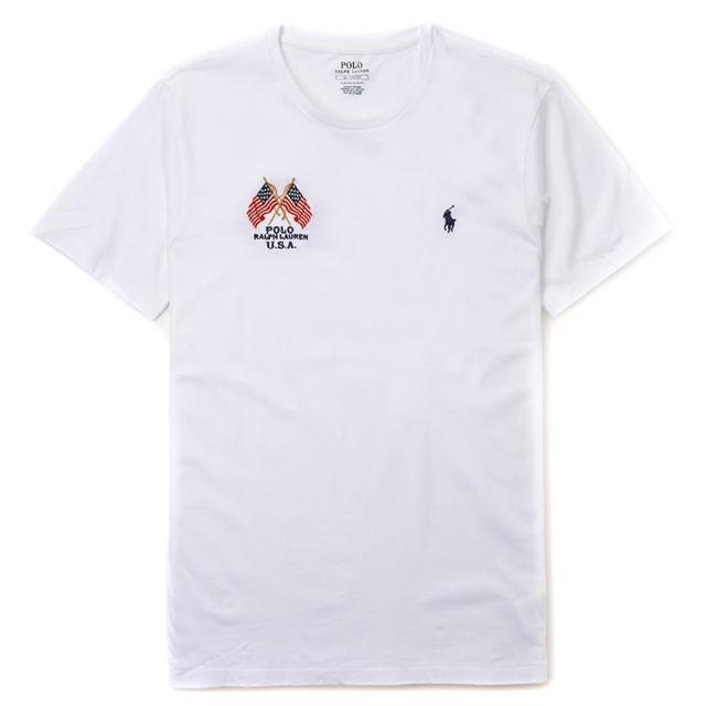 【RALPH LAUREN】Polo Ralph Lauren 年度熱銷旗幟小馬圓領素面短袖T恤-白色