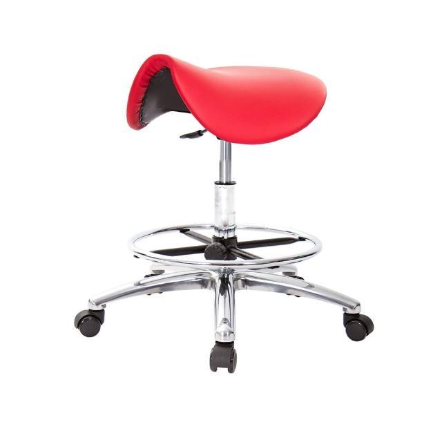 【GXG 吉加吉】馬鞍型 工作椅 寬鋁腳+電金踏圈+防刮輪(TW-T05 LU1XK)