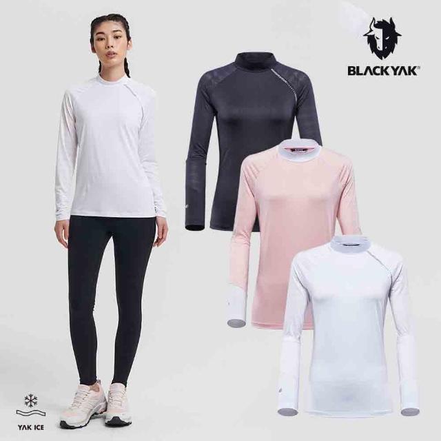 【BLACK YAK】女 COOL涼感長袖上衣[粉紅/白色/黑色]BYAB1WC703(韓國春夏 涼感 長袖上衣 女上衣)
