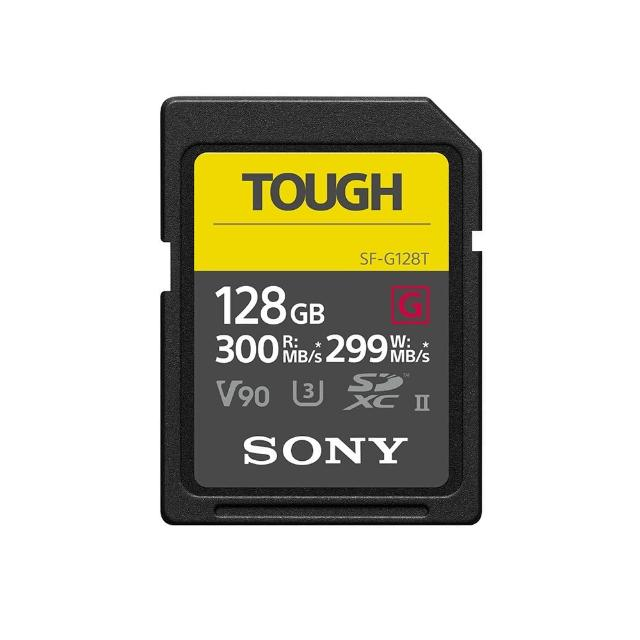 【SONY 索尼】SF-G TOUGH 128GB UHS-II SDXC 記憶卡 300MB/s SF-G128T 公司貨(保固5年)