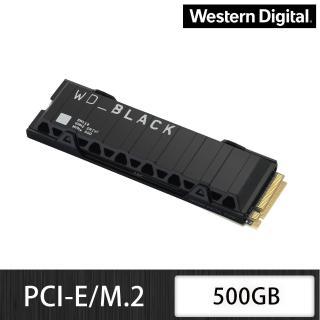 【Western Digital】黑標 SN850 500GB M.2 NVMe PCIe 固態硬碟(含散熱片)+【LINE MUSIC】FUN 365天禮物卡