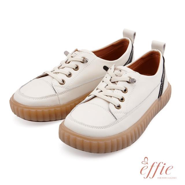 【A.S.O 阿瘦集團】effie網獨款-夏日悠遊套入式鬆緊帶造型復古懶人休閒鞋(米)