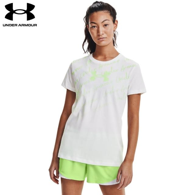 【UNDER ARMOUR】UA 女 Training Graphics短T-Shirt_1365135-100(白)