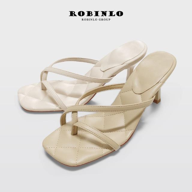 【Robinlo】小香風優雅趾環涼拖鞋WILLARD(米白/杏色)