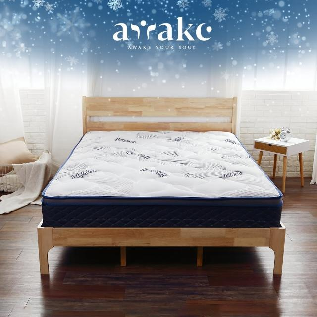 【Tronlife 好床生活】Awake甦醒雪鑽|ICOLD冰涼感|護脊硬式獨立筒床墊|雙人加大6尺(冰晶紗表布)