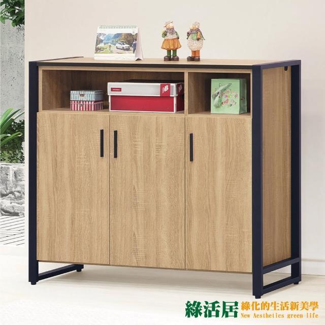 【綠活居】迪烏 現代3.9尺三門鞋櫃/收納櫃(二色可選)