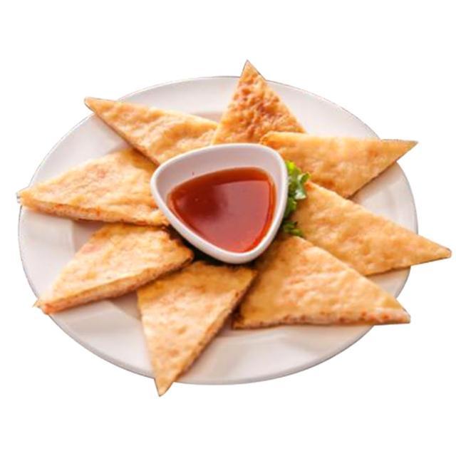 【巨廚】月亮蝦餅-附沾醬x5片(氣炸鍋輕鬆料理/內餡:金線魚漿、花枝肉、鮮蝦仁、馬蹄)
