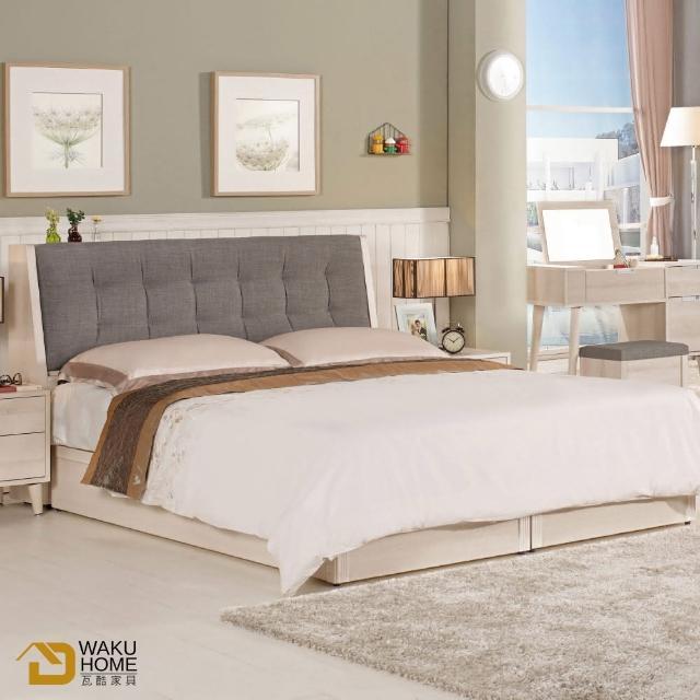 【德泰傢俱】Ailsa簡約清新5尺被櫥式雙人床A002-581-2
