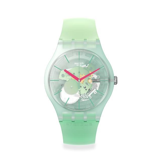 【SWATCH】New Gent 原創系列手錶MUTED GREEN 莫西多(41mm)
