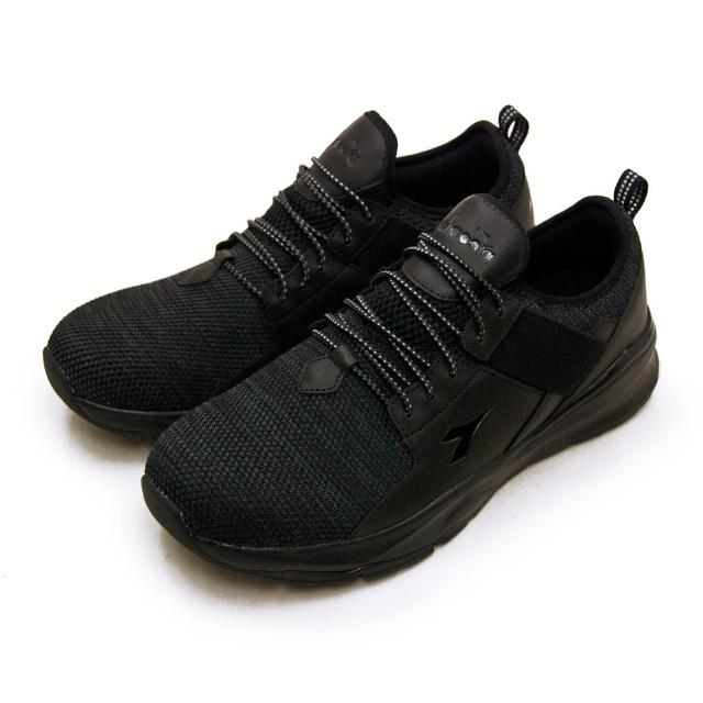 【DIADORA】男 迪亞多那 2E寬楦襪套式防潑水輕旅運動鞋 悠遊系列(黑灰 71100)