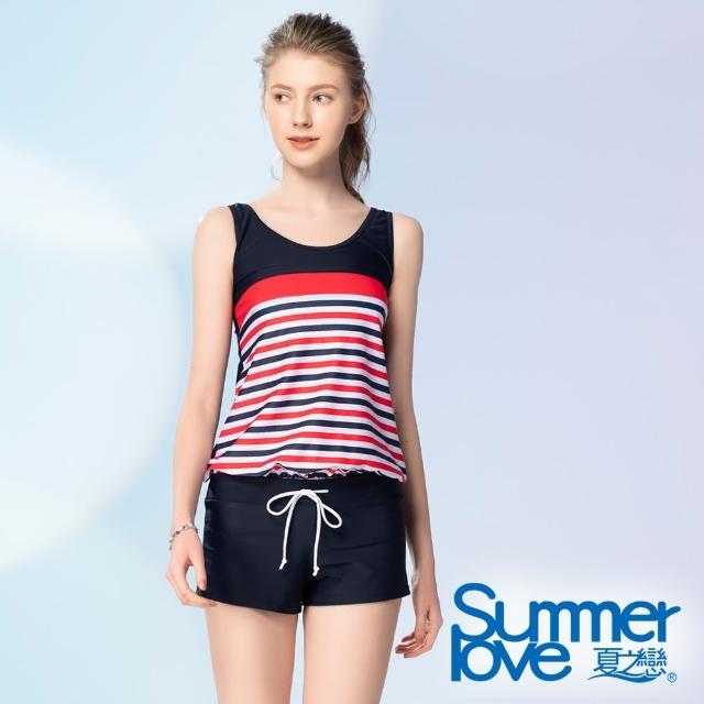 【Summer Love 夏之戀】泳衣 大女連身褲二件式(S21728)