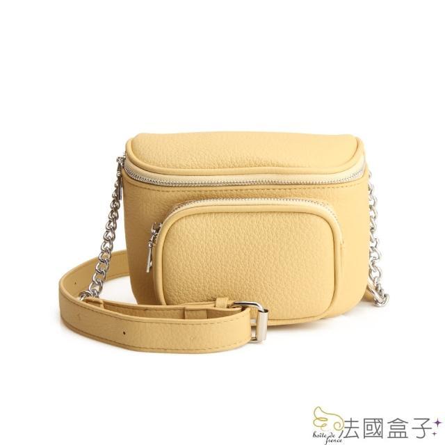 【法國盒子】休閒口袋胸/斜背包(共三色)