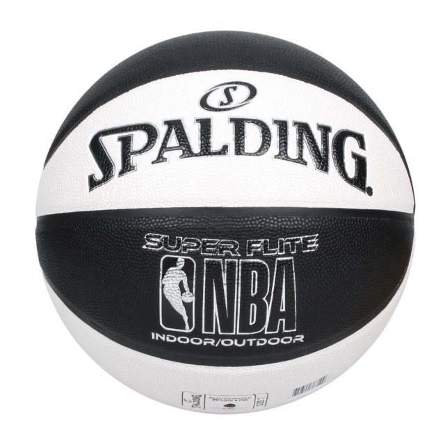【SPALDING】NBA SUPER FLITE系列#7號合成皮籃球-7號球 斯伯丁 白黑(SPA76351)