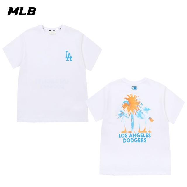 【MLB】短袖T恤 棕梠樹圖案 洛杉磯道奇隊(31TSX1131-07W)