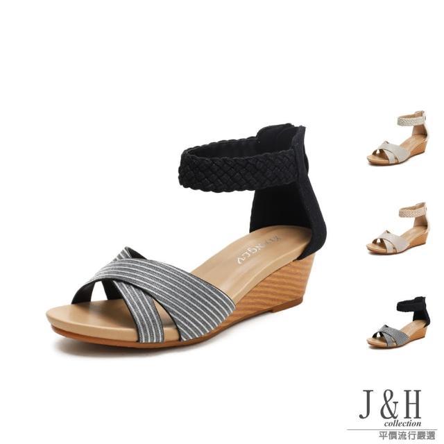 【J&H collection】優雅經典交叉編織高跟涼鞋(現+預 金色 / 香檳金 / 黑色)