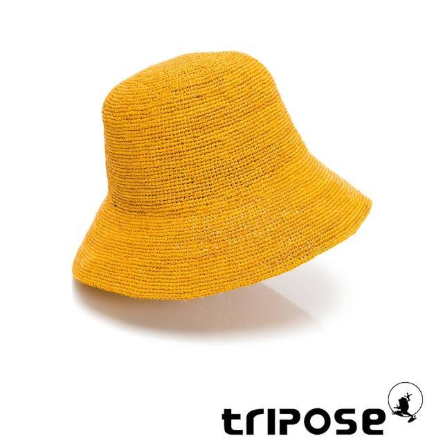 【tripose】GAIL 手工Raffia後染拉菲草帽 帽簷7cm(鵝黃)