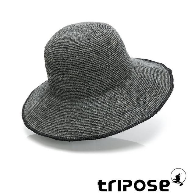 【tripose】MULA 手工Raffia滾邊拉菲草帽 帽簷10cm(灰色)
