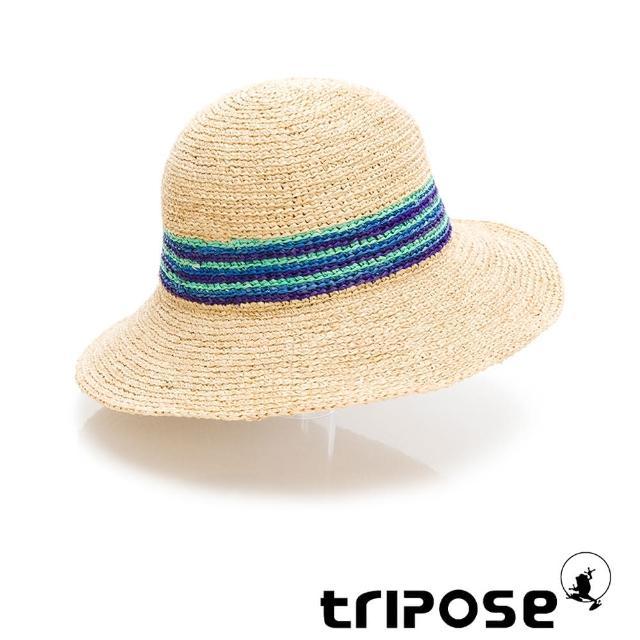 【tripose】DORIS 手工Raffia波紋拉菲草帽 帽簷8cm(自然色)